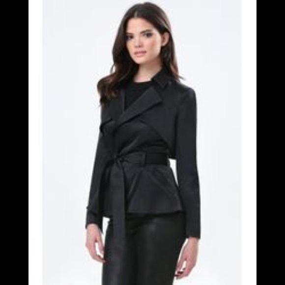 bebe Jackets & Blazers - Bebe short black trench M